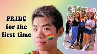 going to a pride parade for the first time as a gay male