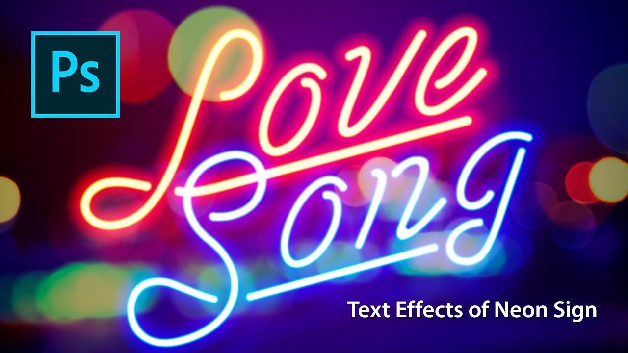 Photoshop text effect tutorials of neon sign youtube youtube premium altavistaventures Gallery