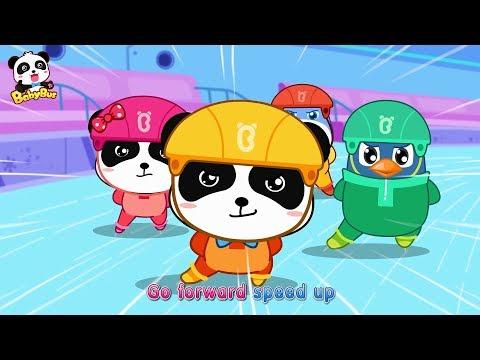 Baby Panda's Speed Skating   Winter Games for Kids   Love Sports   BabyBus