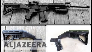 How was the Las Vegas shooter able to modify his guns?