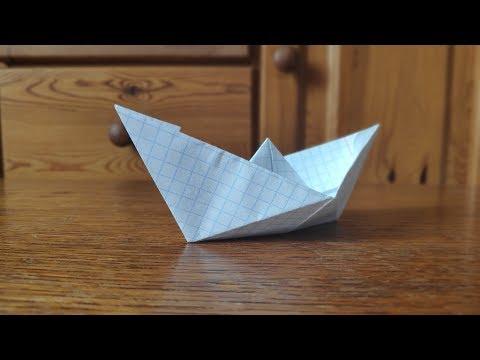 Оригами из тетрадного листа бумаги