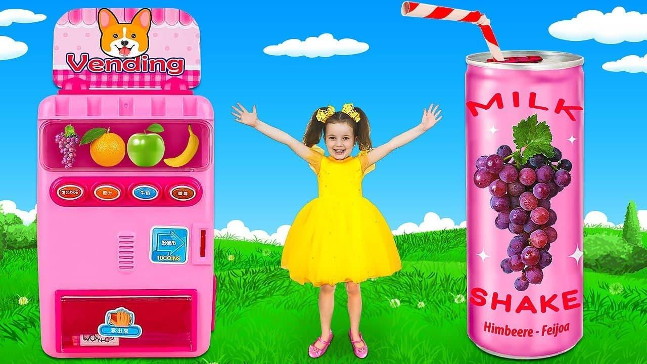 Sasha y sus amigas juegan con juguetes de Hello Kitty y mezclan dulces en el baño