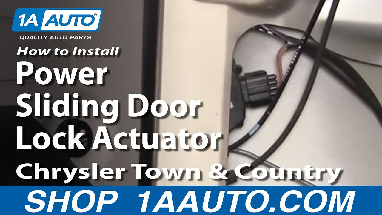 how to install replace power sliding door lock actuator chrysler town and country 01 07 1aauto com youtube [ 1920 x 1080 Pixel ]