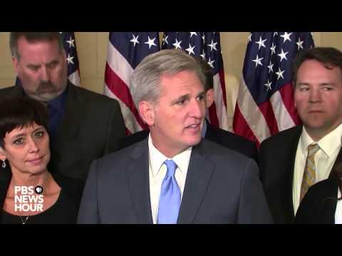 Watch Rep. Kevin McCarthy speak on dropping out from Speaker's race