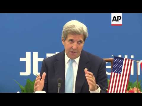 Kerry and Liu visit exhibition, comment on NGOs