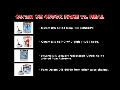 OSRAM (SYLVANIA) OEM D1S BULB - IN-Depth comparison on FAKE vs. REAL
