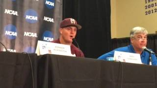 Mississippi State coach Andy Cannizaro after LSU\'s comeback win in Super Regional opener