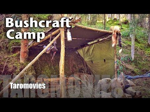 Bushcraft Mountain Camp / Bushcraft Survival HD Video