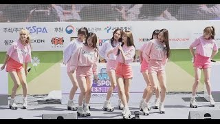 오마이걸 OH MY GIRL[4K 직캠] 한발짝 두발짝 One Step Two Steps@20160507 Rock Music