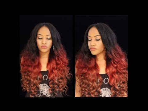 burgundy red blonde brown ombre hair color tutorial