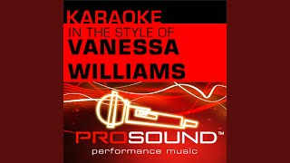 Colors of the Wind (Karaoke Lead Vocal Demo) (In the style of Vanessa Williams)