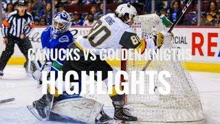 Canucks vs Golden Knights | Pre Season | Highlights (Sept. 17, 2017)