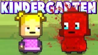 BUCKET OF BLOOD DUMPED ON CHILD! -  Janitor Kills Monty! - Kindergarten Gameplay