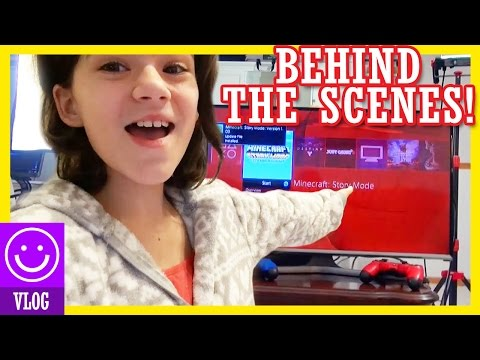GAMING BEHIND THE SCENES!  | MINECRAFT STORY MODE!  |  KITTIESMAMA