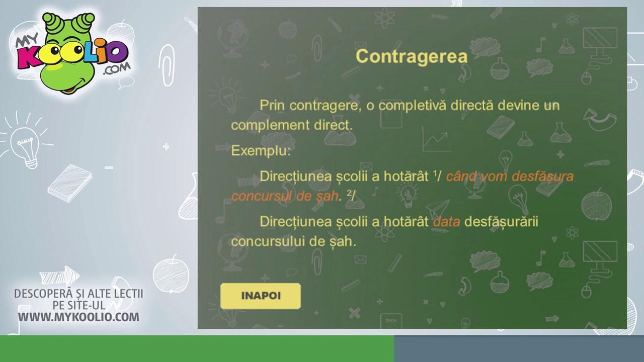 Lecție demo limba română, clasa a VIII-a, Completiva directă