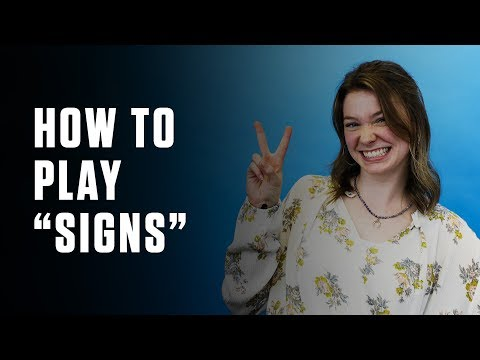 Simple Team Building Game: Signs
