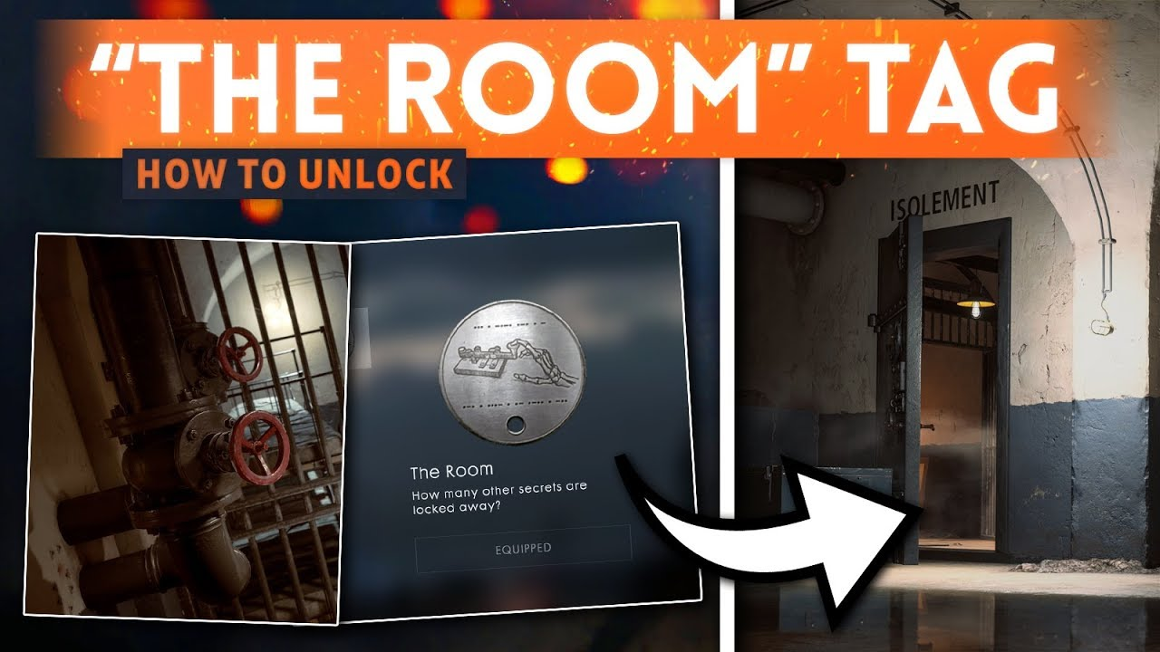 """HOW TO UNLOCK The *SECRET* ISOLEMENT """"THE ROOM"""" Dog Tag! - Battlefield 1 (Battlefield 5 Hint)"""