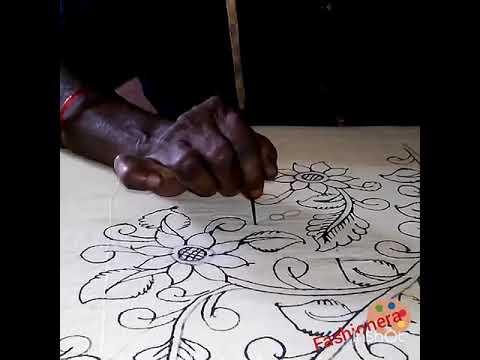 Women Fashion - Traditional kalamkari drawing on fabrics