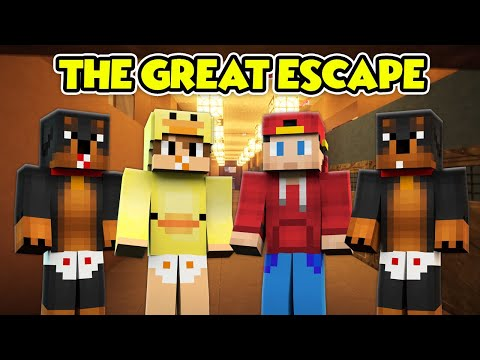 MINECRAFT THE GREAT ESCAPE - THE LITTLE CLUB ESCAPE FROM THE SCHOOL!! Baby Duck Minecraft Adventures