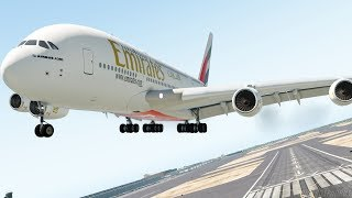 Airbus A380 Emirates Emergency Landing After Turbulance On Flight (HD) | X-Plane 11