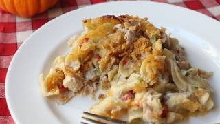 Turkey Noodle Casserole Recipe - Thanksgiving Leftover Turkey Special