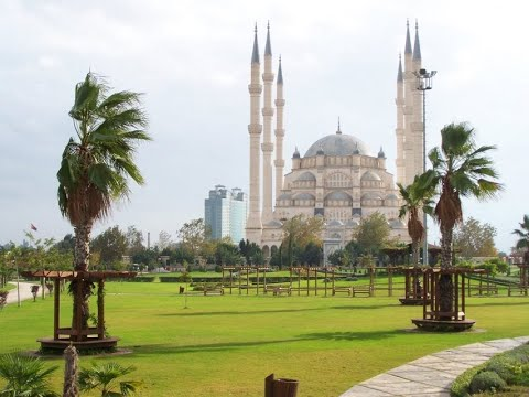 Sabanci central mosque, the biggest mosque of Turkey