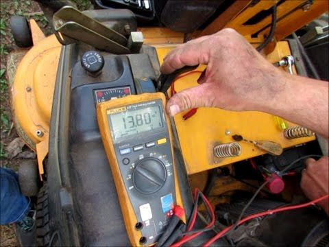 Fixing Cub Cadet Charging System - YouTube