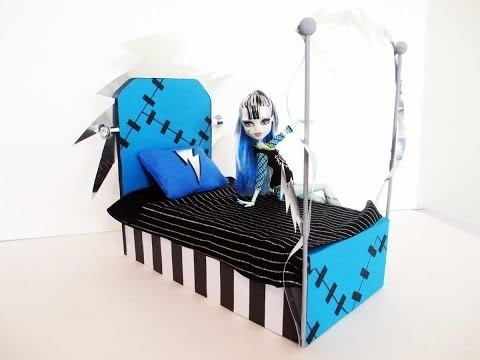 How to Make a Frankie Stein Doll Bed Tutorial/ Monster High