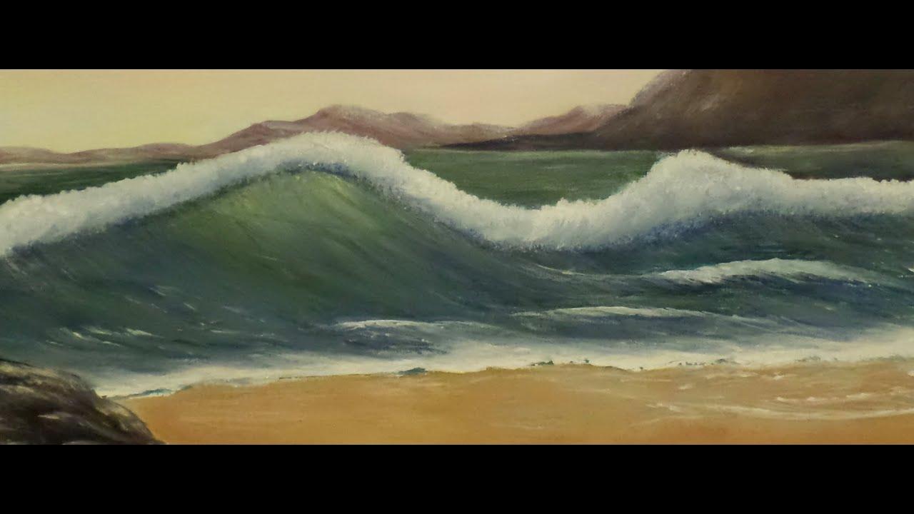 Acrylic Wave Painting
