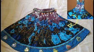 Ideas for Navratri Outfit | Best from Waste I Reuse old clothe to make Lehenga in 10 Minutes