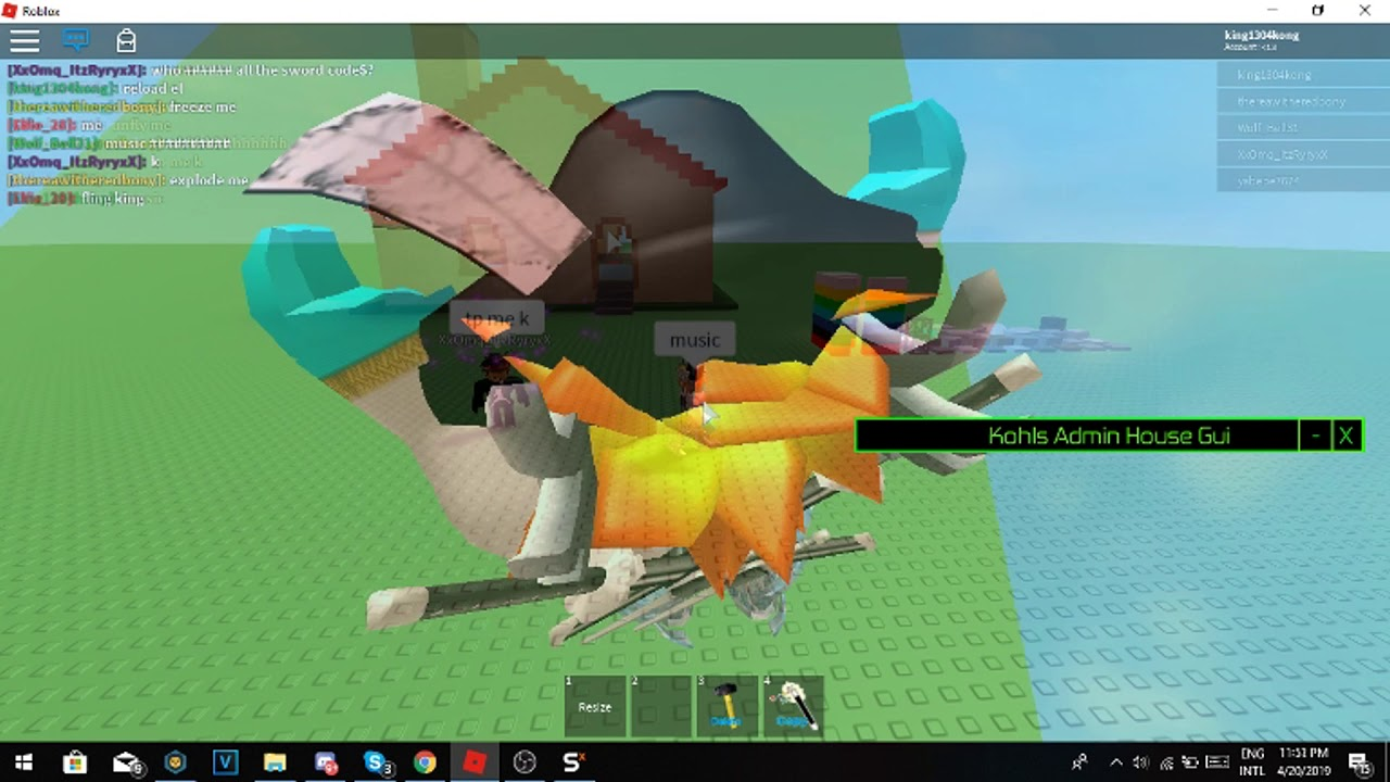 Roblox How to kick & ban abuser in kohls admin house!