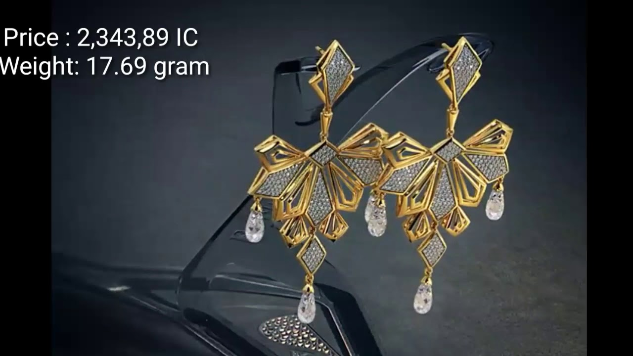gold earrings gold jhumka gold stud designs with