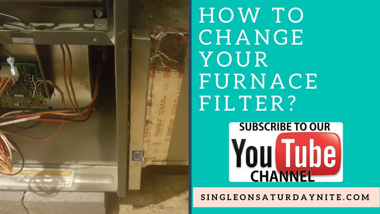 how to change your goodman furnace filter l single ladies diy [ 1280 x 720 Pixel ]