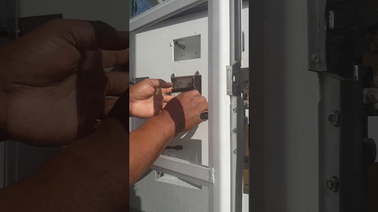 How Fix Rv Entry Door Lock Youtube