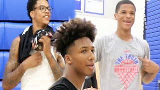 Shaqir & Shareef O'Neal + Mikey Williams GO CRAZY Shooting Half Court Shots on one court!