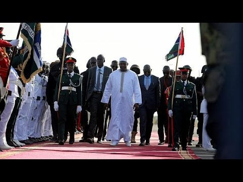 President Barrow mobbed as he returns to The Gambia, ECOWAS salutes with flypasts