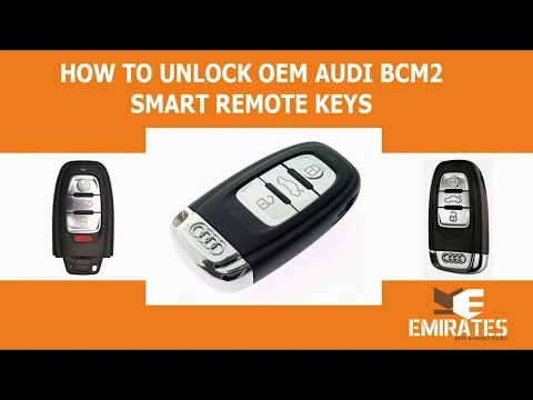 How To Unlock OEM Audi BCM2 Smart Remote Keys Via MK3