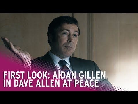 Aidan Gillen is Dave Allen  First Look at Dave Allen At Peace