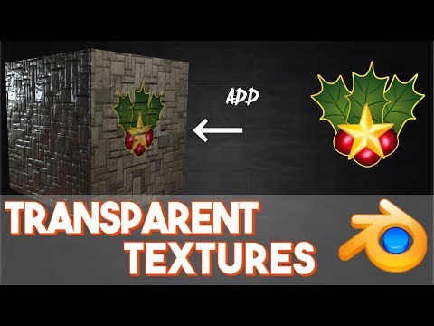 How to put transparent images on to textures (UV mapping) || Blender: Beginner to Better