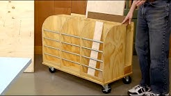 Upgrade Your Shop Storage - How to Build a Rolling Lumber Cart! (FREE WOODWORKING PLAN)