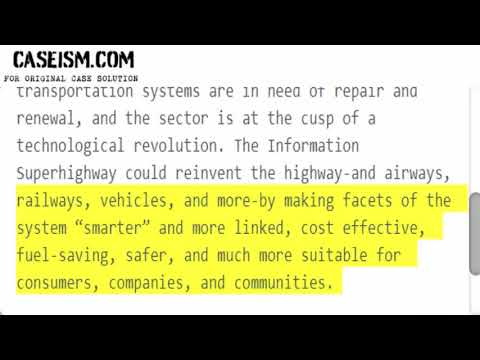 The Information Superhighway Meets the Highway: Technology and Mobility  Case Solution & Analysis