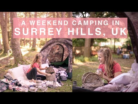 Camping in Surrey Hills, UK with The North Face #WeekendBase