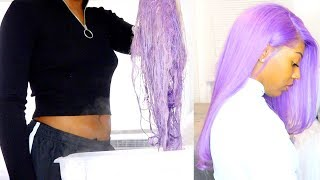 DYE HAIR IN SECONDS WITH WATERCOLOR METHOD!!!😳🤯  ft. Wowafrican // I'M SO SHOOK😍