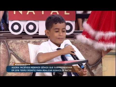 Crianças geniais participam de desafio para ganhar presentes