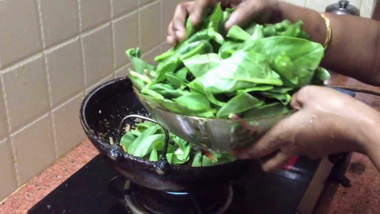 Palak paneer recipe in tamil - YouTube