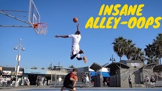 ALLEY-OOP DUNK SESSION w/ Chris Staples At Venice Beach Video