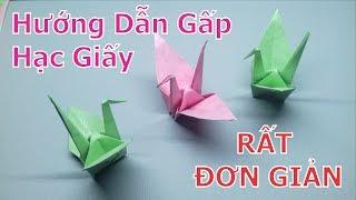 Hướng Dẫn Gấp Xếp Hạc Giấy Đơn Giản - Origami   Phương Paper