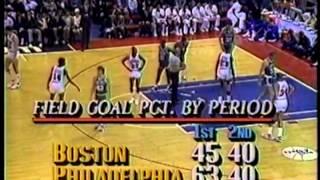 Boston Celtics vs Philadelphia 76ers, April 5, 1987