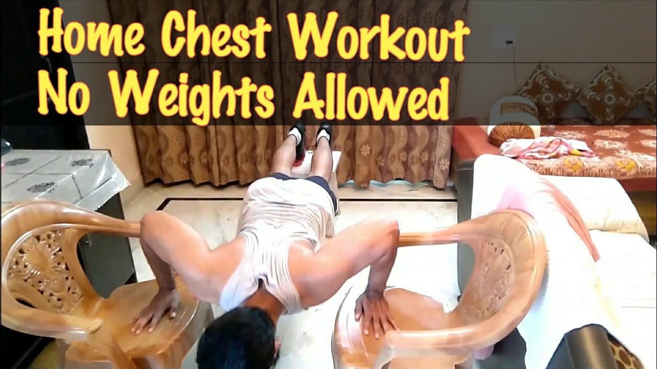 Home chest workout build bigger at without