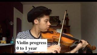 Violin progress 0 to 1 year (Adult Beginner)